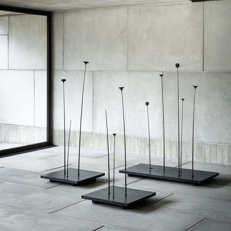 Fiori, Wooden Floor Sculpture by Antrei Hartikainen 'Large' In New Condition For Sale In Helsinki, FI