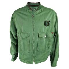Fiorucci Mens Vintage Denim Bomber Jacket, 1980s