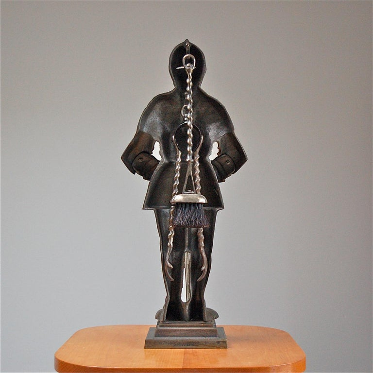 Dutch Fire Companion Stand in the Shape of a Medieval Knight, Late 20th Century