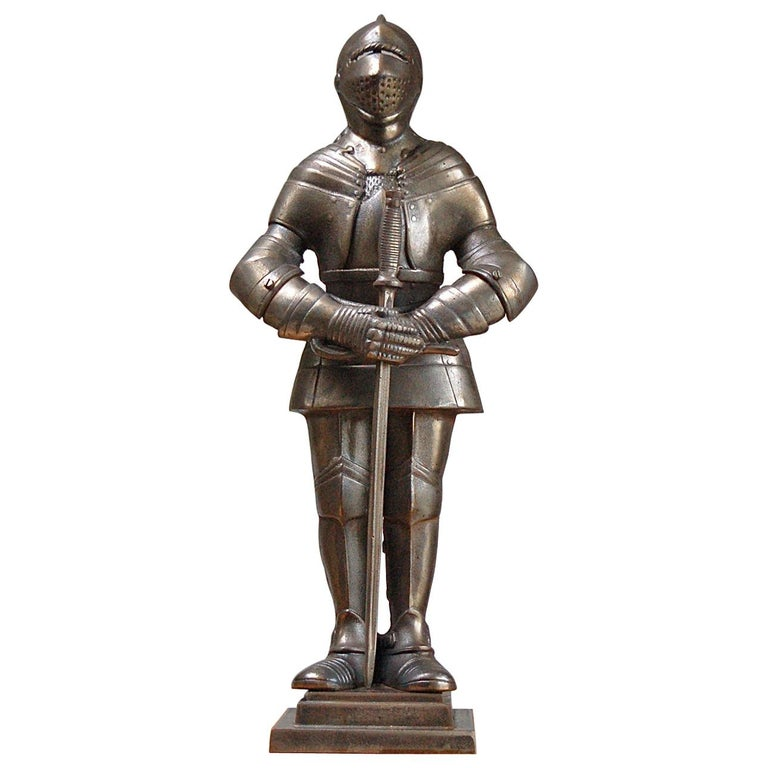 Fire Companion Stand in the Shape of a Medieval Knight, Late 20th Century