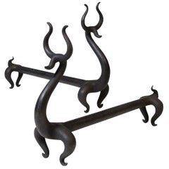 """""""Fire Deer"""" Andirons by Russel Wright"""