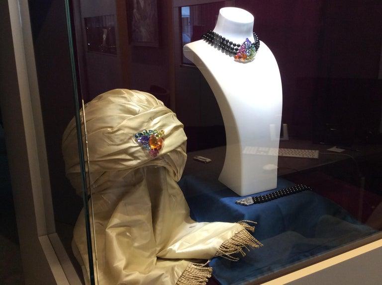 Fire Opal Tanzanite Tourmaline Onyx Pearls Gold Aquamarine Peridot Bracelet For Sale 5
