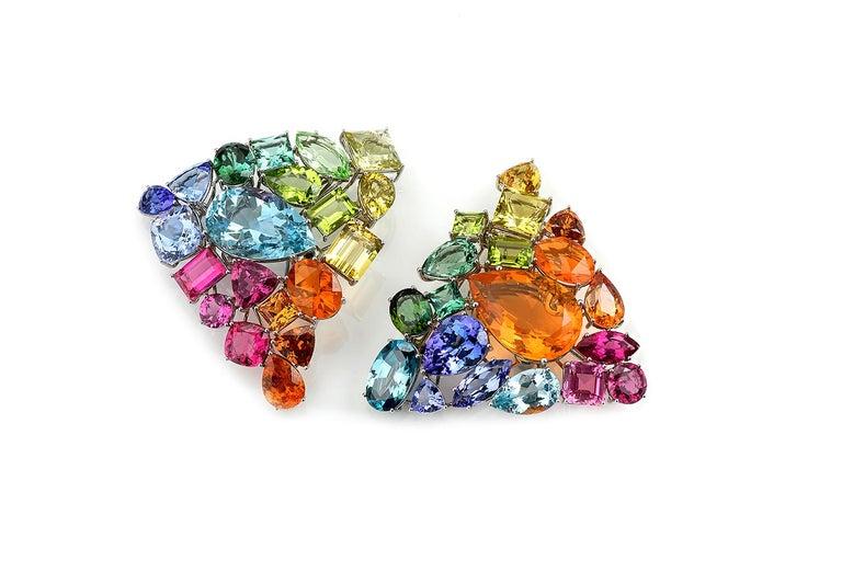 Fire Opal Tanzanite Tourmaline Onyx Pearls Gold Aquamarine Peridot Bracelet For Sale 1