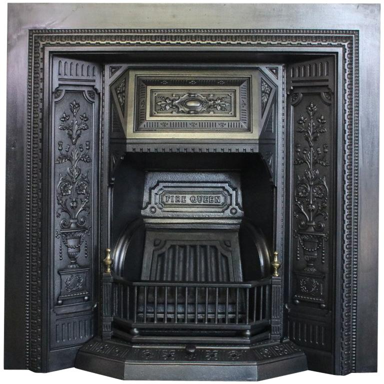 Fire Queen A Victorian Cast Iron Fireplace Insert In The Classical