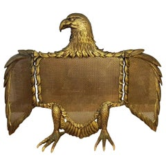Fire Screen Bronze or Brass Eagle-Sparks, Spain, Early 20th Century