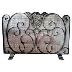 Fire Screen Iron, Spain, 20th Century