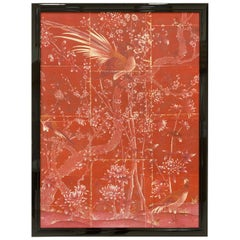 Red Phoenix Chinoiserie Framed Art