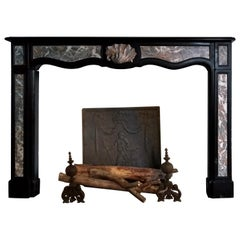 Fireplace 18th Century Noir de Mazy and Saint Rémy Marble