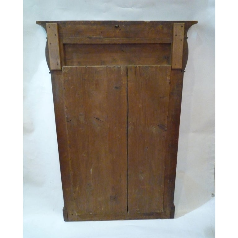 Fireplace Mirror circa 1840 Walnut Burl Wood Shellac Biedermeier / Regency For Sale 4