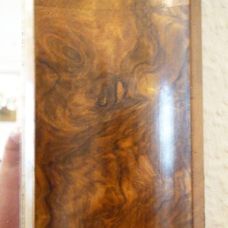 Polished Fireplace Mirror circa 1840 Walnut Burl Wood Shellac Biedermeier / Regency For Sale