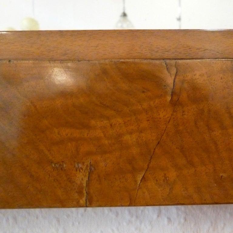 Fireplace Mirror circa 1840 Walnut Burl Wood Shellac Biedermeier / Regency For Sale 3
