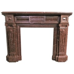 Fireplace Napoléon III, '1852-1871' Red Griotte Marble