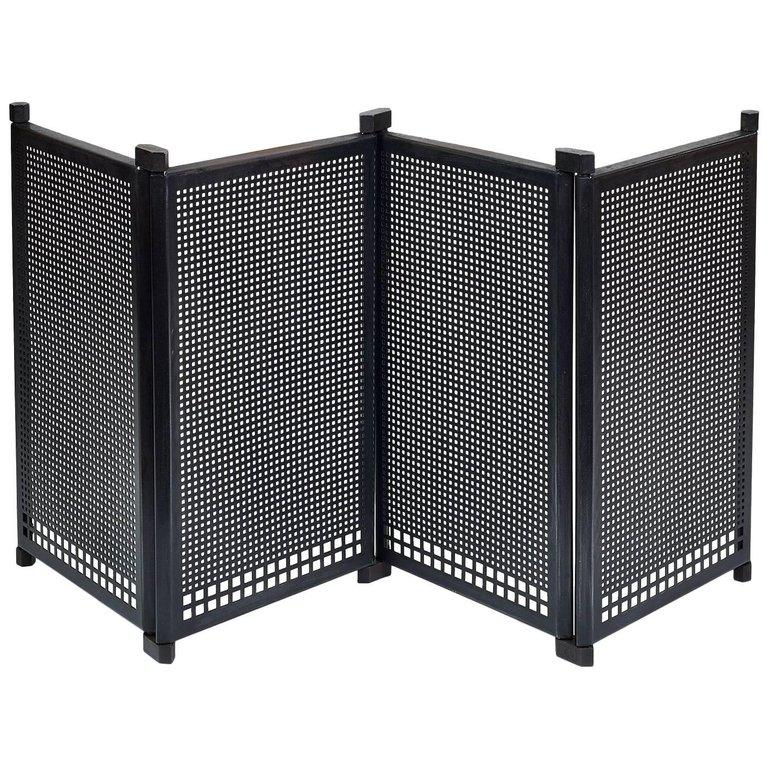 Italian Fireplace Screen by Afra & Tobia Scarpa, Italy, 1970s For Sale