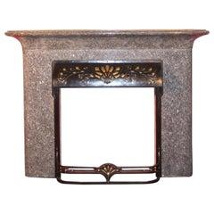 "Fireplace ""seaweed"" Art Nouveau Louis Majorelle"