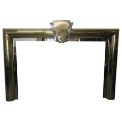 Fireplace Surround in Brass and Chrome by Danny Alessandro