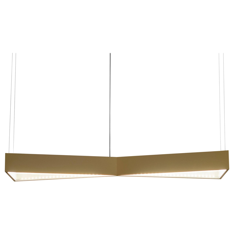 Firmamento Milano Anodized Gold X-Light Pendant Lamp by Michele Reginaldi