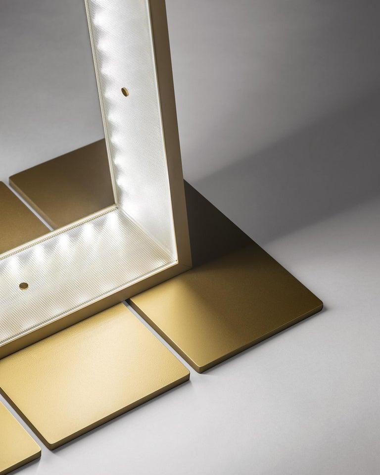 Modern Firmamento Milano Anodized Gold Xlight Floor Lamp by Michele Reginaldi For Sale