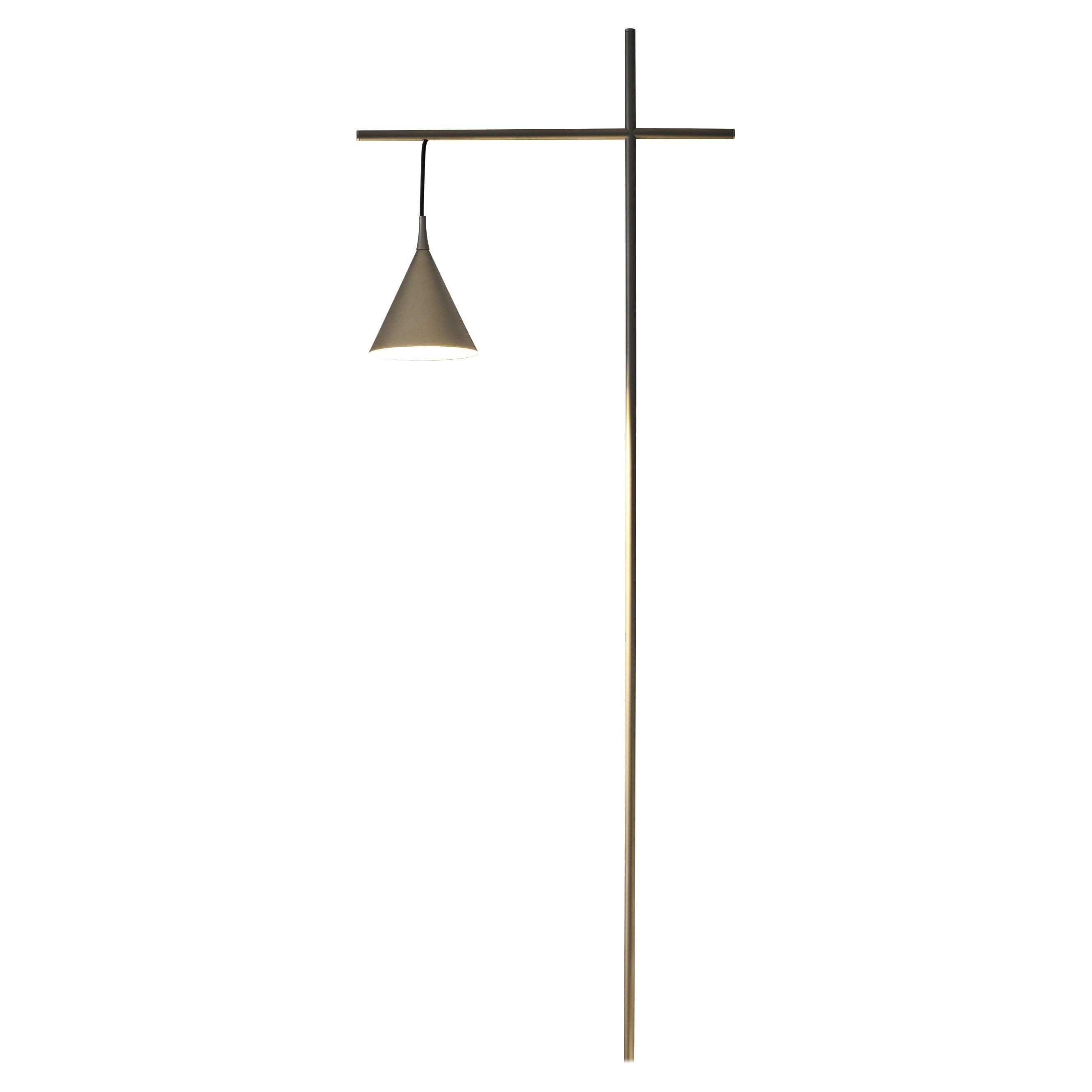 Firmamento Milano Cono Lecture Floor Lamp in Gold by Carlo Guglielmi