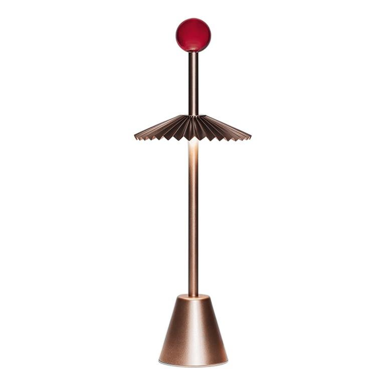 For Sale: Beige (BR — Bronze) Firmamento Milano Etoile Rechargeable Table Lamp by Daniela Puppa
