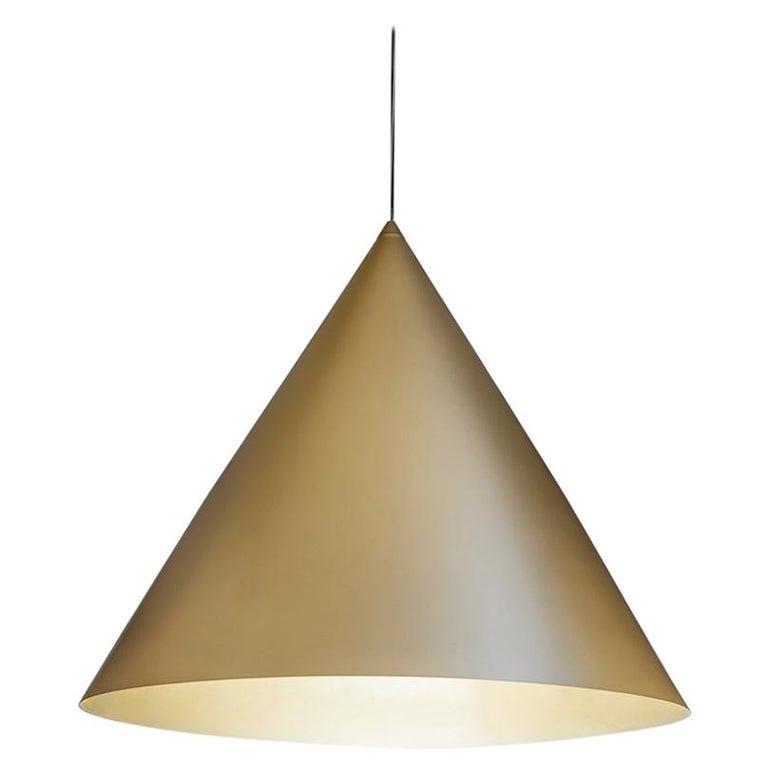 For Sale: Gold (GO — Gold) Firmamento Milano Large Cono Pendant by Carlo Guglielmi