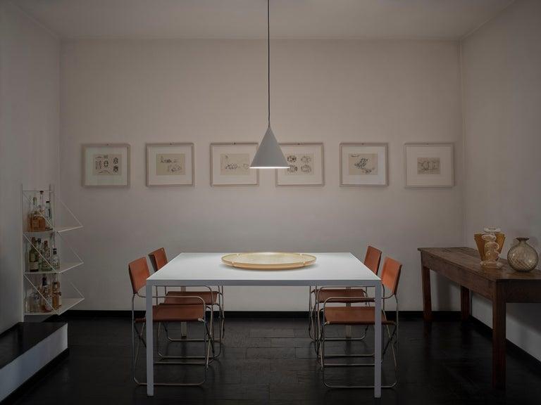 Steel Firmamento Milano Medium Cono Pendant by Carlo Guglielmi For Sale