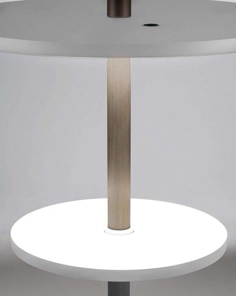 Modern Firmamento Milano Medium White Servoluce Floor Lamp by Park Associati For Sale