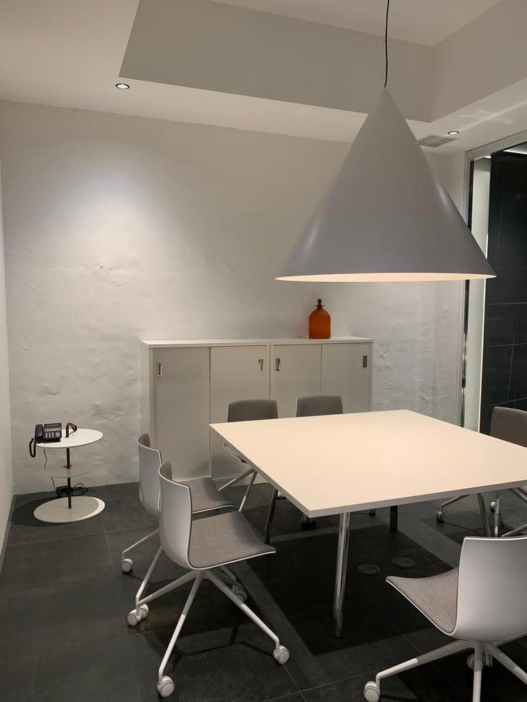 Varnished Firmamento Milano Medium White Servoluce Floor Lamp by Park Associati For Sale