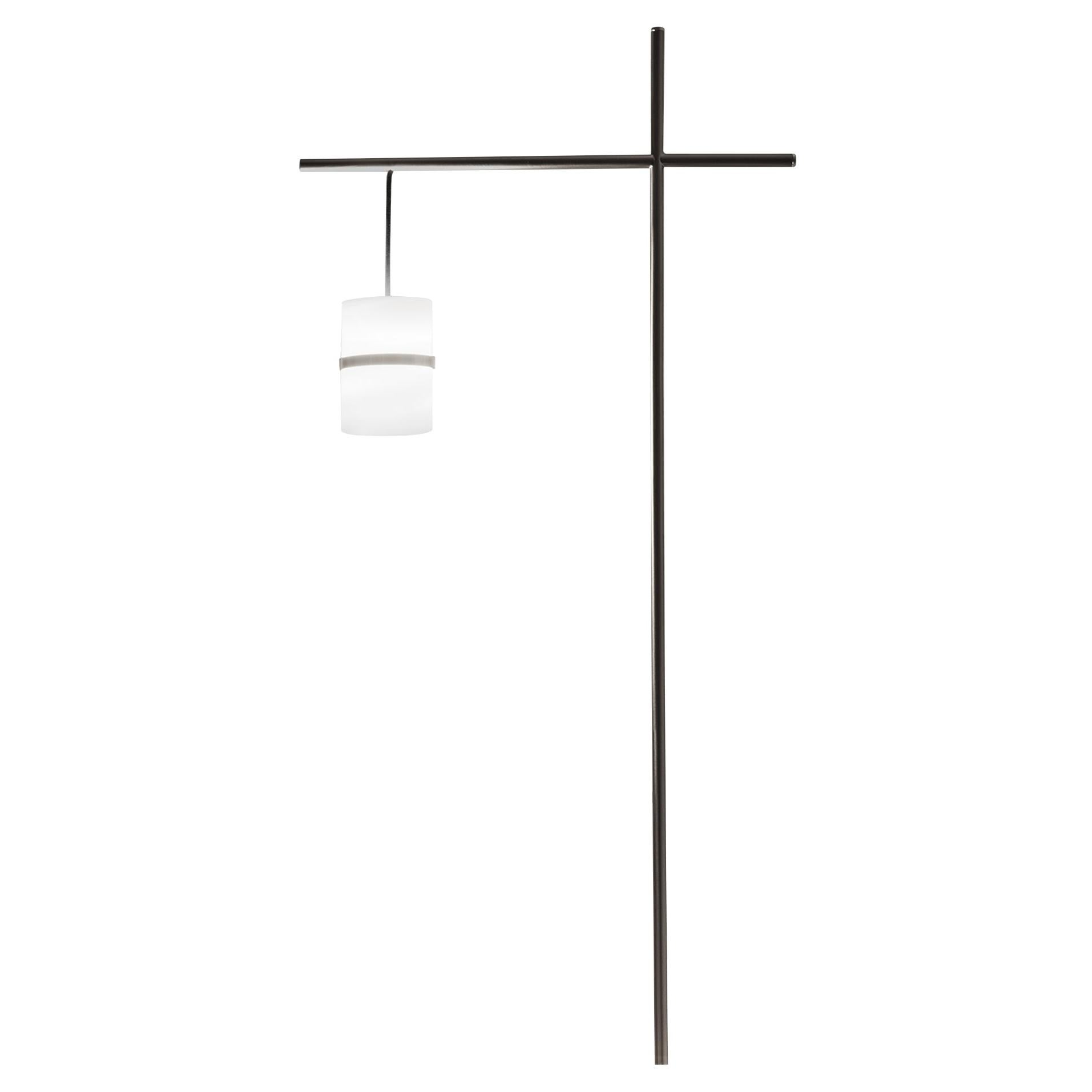Firmamento Milano Piccola Boa Lecture Floor Lamp in Nickel by Carlo Guglielmi