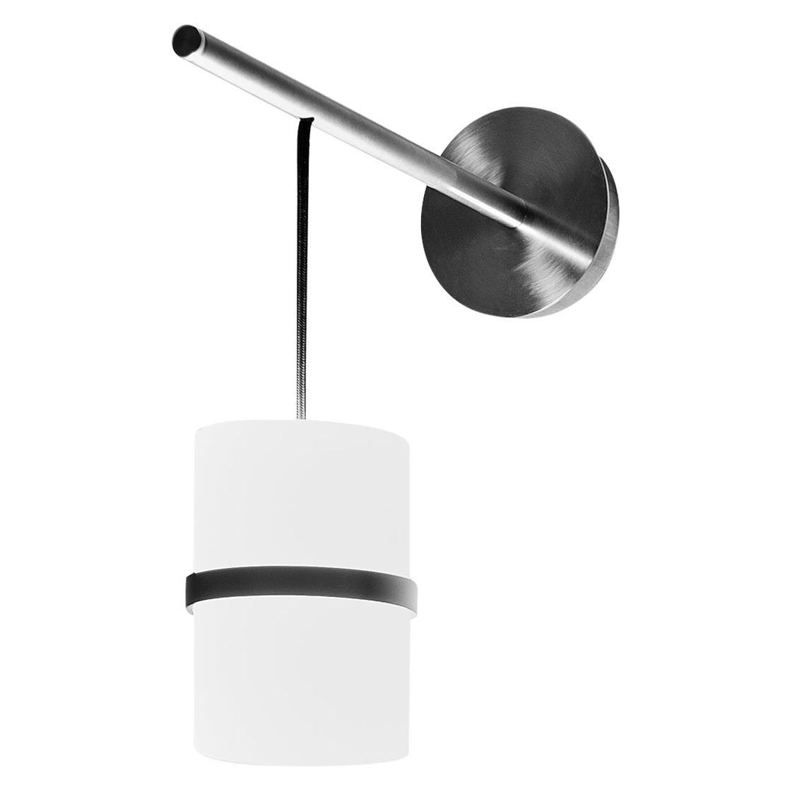 Firmamento Milano Piccola Boa Wall Lamp in Nickel and Glass by Carlo Guglielmi