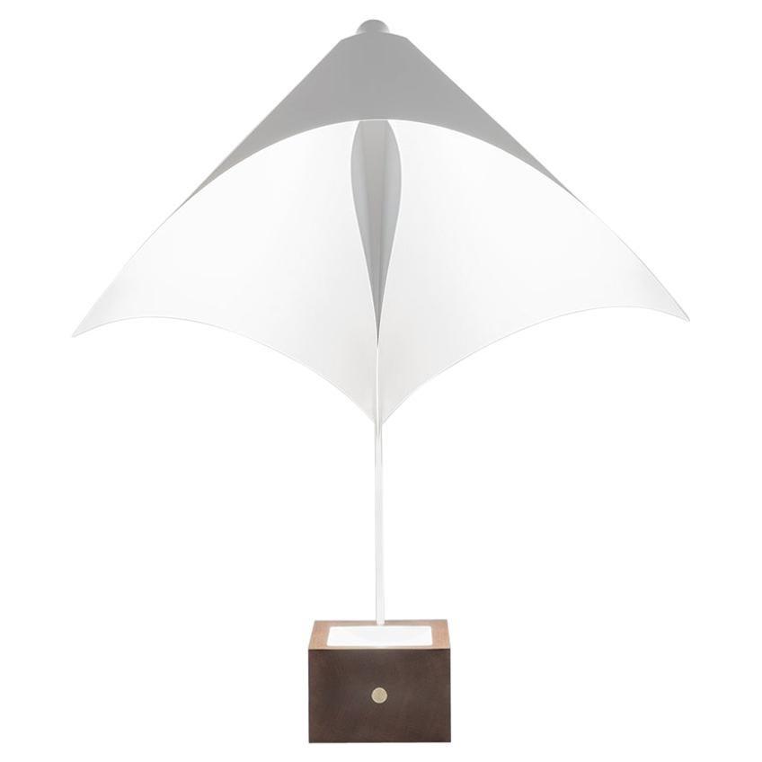 Firmamento Milano White Badessa Table Lamp by Michele Reginaldi
