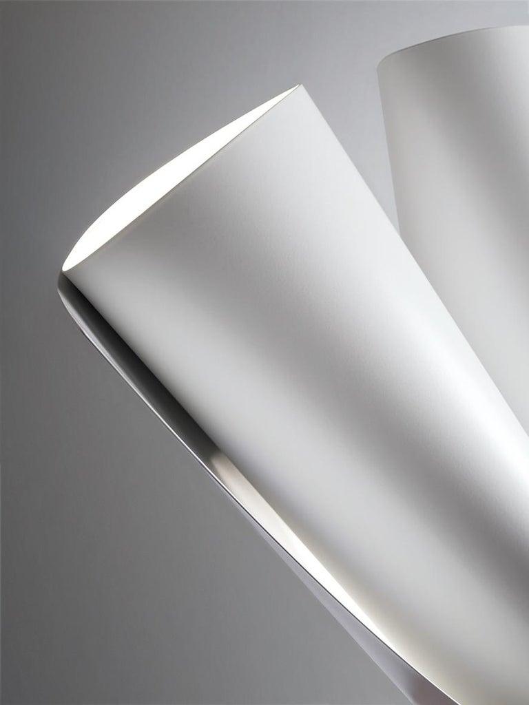 Modern Firmamento Milano White Ginevra Table Lamp by Michele Reginaldi For Sale