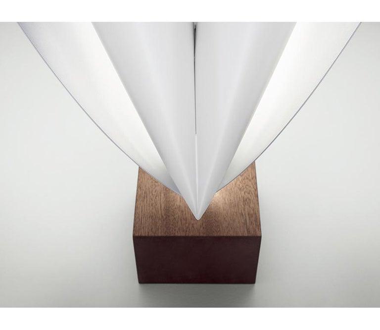 Italian Firmamento Milano White Ginevra Table Lamp by Michele Reginaldi For Sale