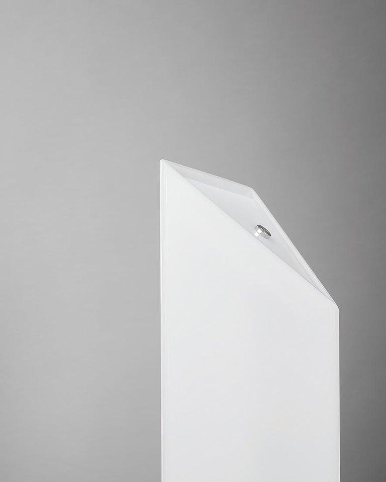 Modern Firmamento Milano White Presbitero Floor Lamp by Pierluigi Cerri For Sale