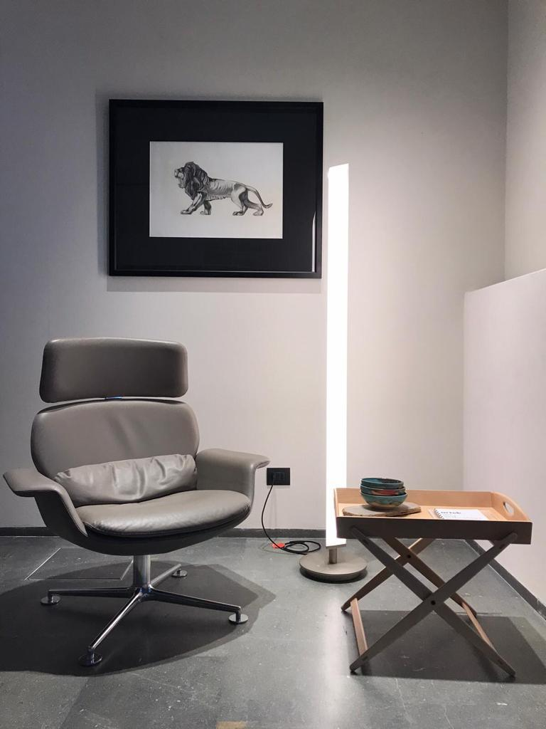 Firmamento Milano White Presbitero Floor Lamp by Pierluigi Cerri For Sale 1