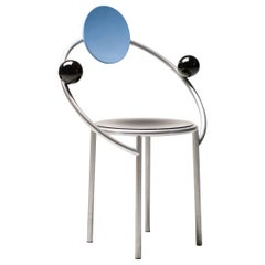 First Chair by Michele De Lucchi for Memphis, Marked