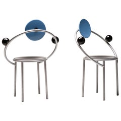 First Chairs by Michele De Lucchi for Memphis