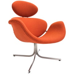 "First Edition ""Big Tulip"" Lounge Chair Model F551 by Pierre Paulin Artifort 1959"