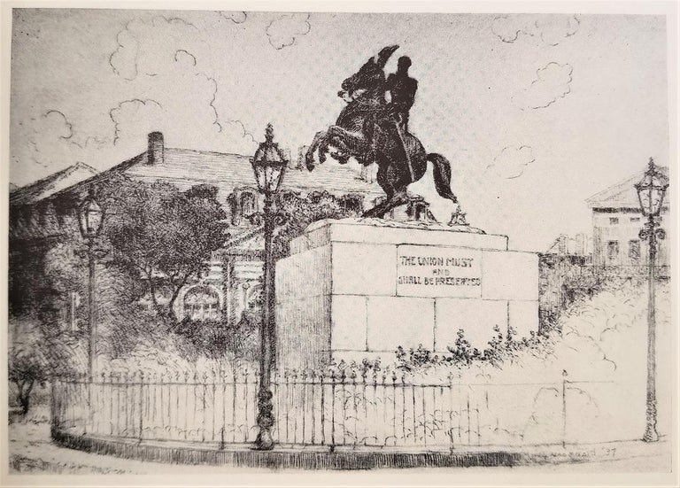 First Edition First Printing of French Quarter Etchings by W Woodward For Sale 2
