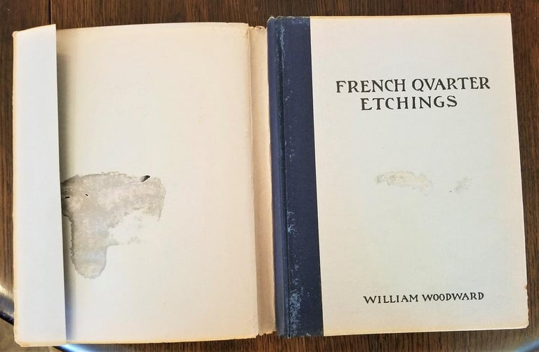 American First Edition First Printing of French Quarter Etchings by W Woodward For Sale