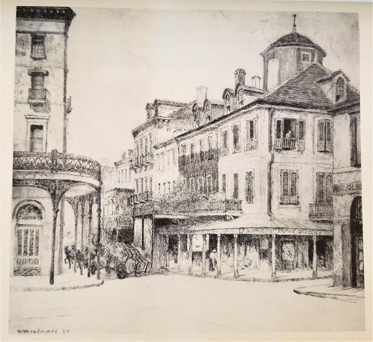 First Edition First Printing of French Quarter Etchings by W Woodward For Sale 1