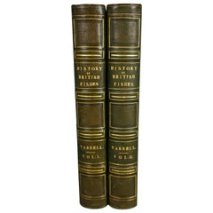 First Edition: History of British Fishes by Yarrell Leather Bound in 2 Volumes
