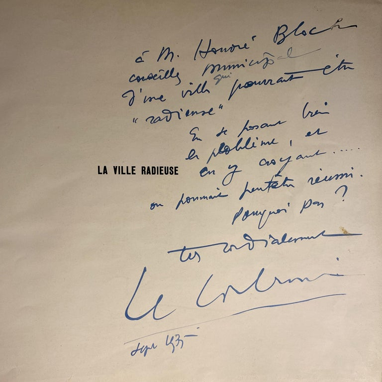 International Style First Edition Le Corbusier Book with Inscription For Sale
