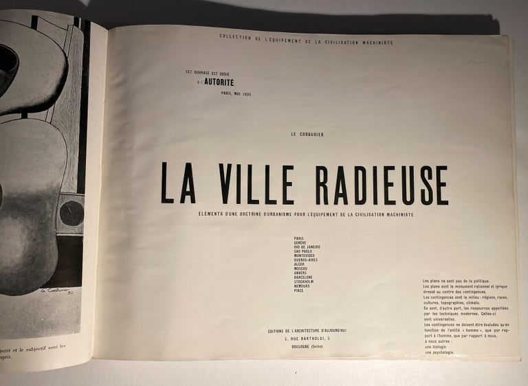 French First Edition Le Corbusier Book with Inscription For Sale