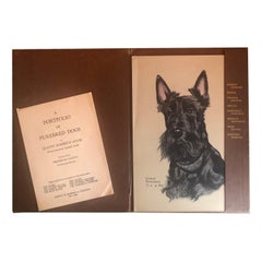 First Edition Set of Eight Signed Dog Prints by Gladys Emerson Cook