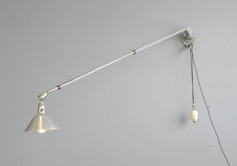 First Edition Triplex Telescopic Counter Weight Wall Lamp For Sale 3