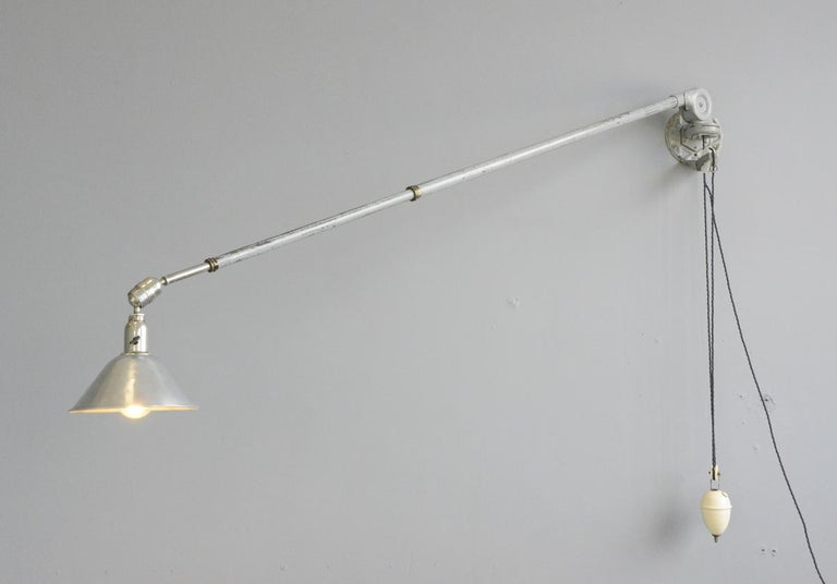 First Edition Triplex Telescopic Counter Weight Wall Lamp For Sale 2