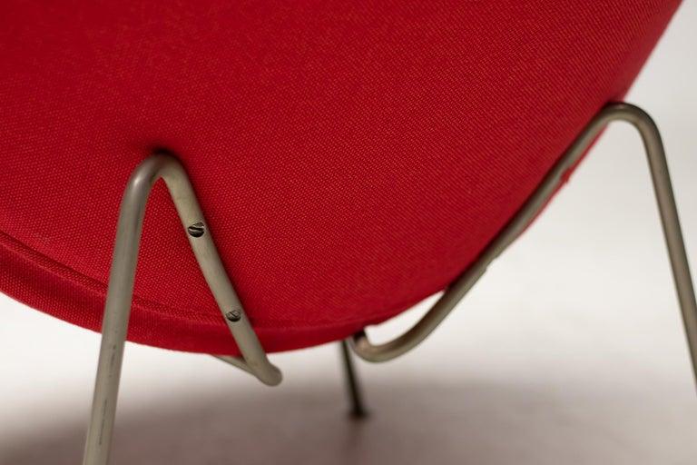 Dutch First Edition Zinc Frame Orange Slice Chair by Pierre Paulin For Sale