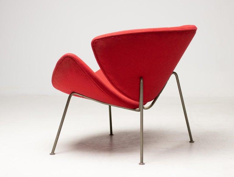 Steel First Edition Zinc Frame Orange Slice Chair by Pierre Paulin For Sale