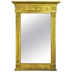 First Empire French Neoclassical Gilt Mirror, Early 19th Century