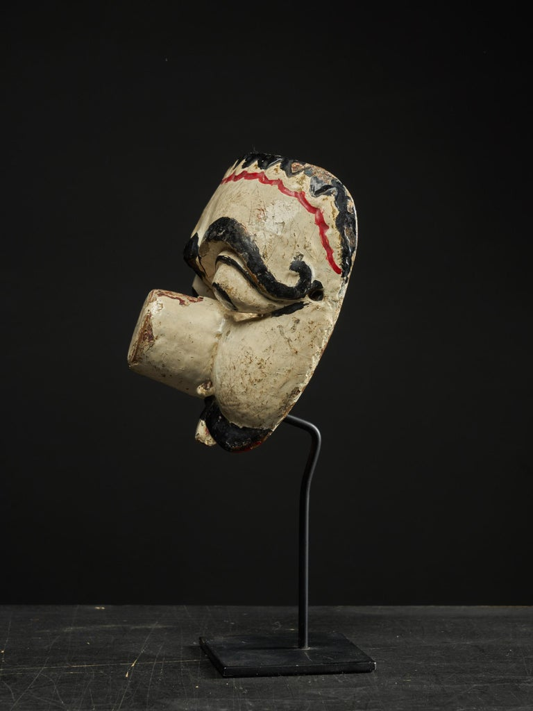Javanese First Half 20th C, Java Indonesia, Old Topeng Theatre Dance Mask  For Sale